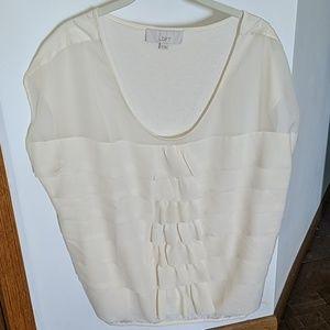 LOFT Ivory Top (XL)